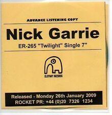 (721B) Nick Garrie, Twilight / In Every Nook & C- DJ CD