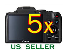 5x Canon PowerShot SX170 IS Clear LCD Screen Protector Guard Shield Film