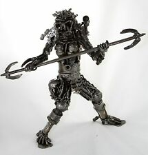 Predator with Spear Action Figure Made From Scrap Metal Real Metal Steel Part