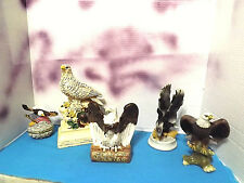 Eagle(5) Figurine Statues 1 is a What Not Box with lid Ceramic ACCEPTABLE
