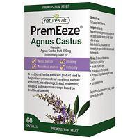 Natures Aid- PremEeze Agnus Castus - 60 Capsules - Premenstrual Relief