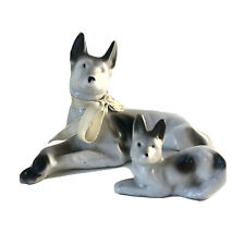 Vintage Greyhound Reclining Dog Crossed Paws Pair of Figurines Made in Japan