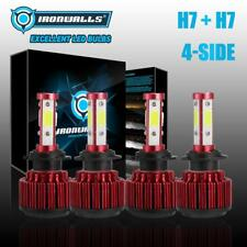 4-Side H7+H7 LED Headlight Kit for BMW 328i 335i 325i 2010-2015 High Low Beam