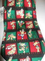 NWT KERSTEN BROTHERS Jolly Ol' Nickties Christmas Neck Tie 58 L 3.75 W Reindeer