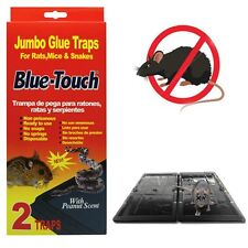 2 Pack -Jumbo mouse traps glue sticky insect control rodent pest peanut scent(4)