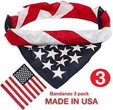 Bandanas 3 pack ( AMERICAN FLAG )