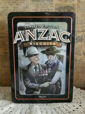 Collectable 2009 limited edition Unibic anzac biscuit tin War hero with Grandson