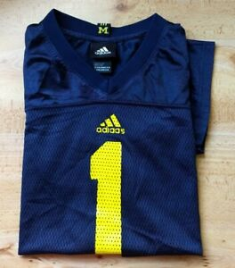 ADIDAS U of M Michigan #1 XL(18-20) NCAA Football 100% Nylon Boys Mesh