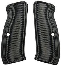 CZ 75 Full Size Checkered Grey/Black G10 - LOK Grips