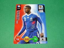 ABIDAL FRANCE PANINI FOOTBALL FIFA WORLD CUP 2010 CARD ADRENALYN XL