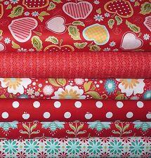 Stoffpaket Äpfel Rot Patchworkstoffe Patchwork Stoff Reste Baumwollstoffe Pakete