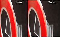 1MM AND 2MM X 33M RED DOUBLE SIDED  TRANSPARENT TAPE , ULTRA STRONG