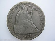 1871 Seated Liberty Dollar, Very Fine details