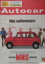 Autocar magazine 27/3/1964 featuring VW 1500S road test, Indy Novi-Ferguson