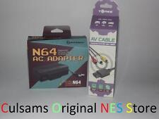 NINTENDO 64 N64  AC POWER ADAPTER AND AV CABLES WITH 30 DAY GUARANTEE