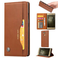 For Sony XA2 XZ2 L2 Retro Magnetic Flip PU Leather Wallet Case Stand Cover Card