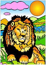 Tableau à colorier en velours - LION - Neuf
