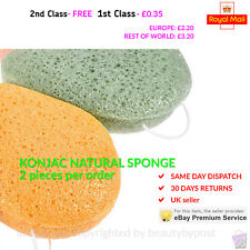 Konjac sponge 2 pcs natural makeup remover deep face exfoliating puff UK seller