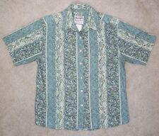 Wrangler Western Wear Medium Top Short Sleeve Cotton Button Rodeo Shirt