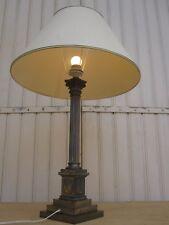 Grande Lampe Empire bronze et laiton nickelé Epoque XIX°