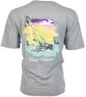 TOMMY BAHAMA Mens T-Shirt SAILS TEAM Sailboat Boating GREY Relax Camp XL-3XL $45