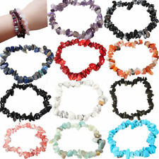 Charm Reiki Healing Bracelets Gemstone Crystal Chip Beaded Bracelet Stretch Gift