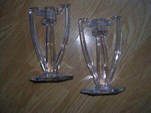 Art Deco vintage candle sticks