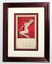 Marilyn Monroe 1954 Golden Dreams Calendar Custom Framed Beauty Ready to hang