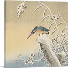 ARTCANVAS Kingfisher Canvas Art Print by Ohara Koson