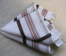 Vintage Handkerchief MENS Hankie NEW Top Pocket Square WHITE BROWN