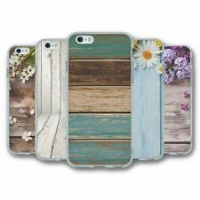 For iPhone 6 6S Silicone Case Cover Wood Collection 2