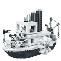 LEPIN MATTONCINI MICKEY MOUSE STEAMBOAT WILLIE BARCA NAVE TOPOLINO MINNIE