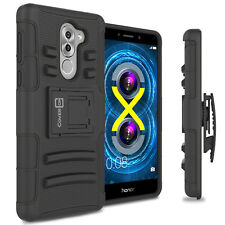 For Huawei Honor 6X / Mate 9 Lite Holster Case Kickstand Hybrid Cover Black