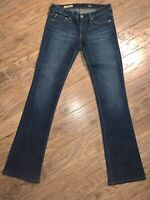 AG Adriano Goldschmied WOMENS Blue Denim The Angel Boot Cut Jeans Size 26 X 30