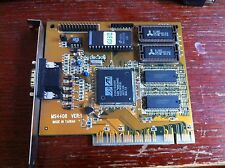 Vintage graphic card ATi Mach64 PCI, rare MS4408, expanded to 2MB