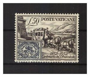 s13040) VATICANO 1952 MNH** 100 Ann. 1st Stamp 1v