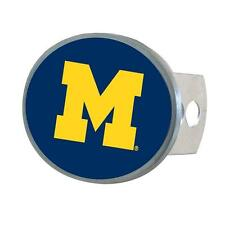 Michigan Wolverines Trailer Hitch Cover Metal Oval Class II & III
