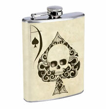 Ace of Spades 01R Flask 8oz Stainless Steel Hip Drinking Whiskey
