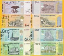 Yemen Set 100, 200, 500, 1000 Rials 2017-2019 UNC Banknotes