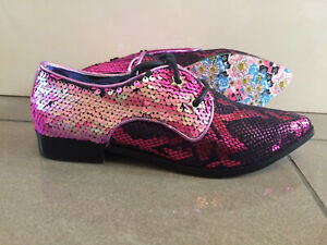 B Low Heel Glitter Shoes Irregular Choice /'Boy trouble/' Loafers Brogues Flat
