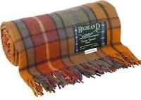 Tweed Blankets Buchanan Antique Tartan 75% Wool - Scottish Highland Throws Rugs