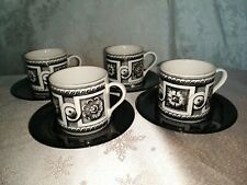 Patterned coffee cup set of four