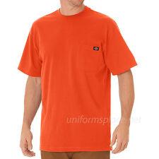 Dickies T Shirt Mens Short Sleeve Pocket Tee WS436 Cotton Solid Plain colors
