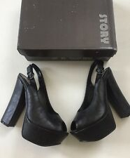 Story Size 6.5 Heels Shoes Platform Black Mary Jane Sexy High New