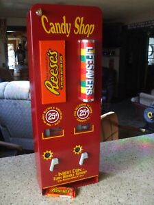 Reese's peanut butter cups Lifesaver vending machine diner candy chocolate