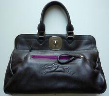 Longchamp Tasche Gatsby strukturiertes Leder dunkelbraun