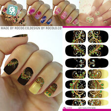 1Sheet Nail Art Water Transfer Stickers 3D Design Manicure Tips Decoration Hot