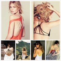 Bra Tank Tops Sexy Women's Padded Bustier Bra Vest Crop Top Bralette Blouse