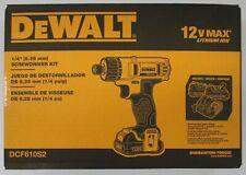 """DeWalt DCF610S2 12v 1/4"""" Screwdriver Kit"""