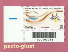 Italia 2020  UNIONE ITALIANA DEI CIECHI  Codice a Barre 2062 MNH